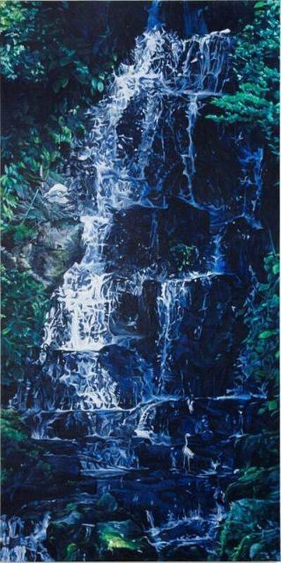 Kong Sung-Hun, 'Waterfall and Two White Herons', 2014