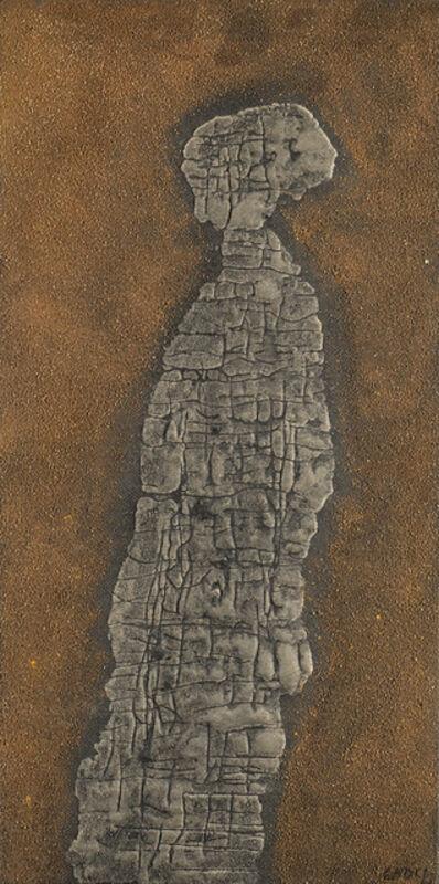 "Domenico Gnoli, '""Abstract Figure n.2""', 1961"