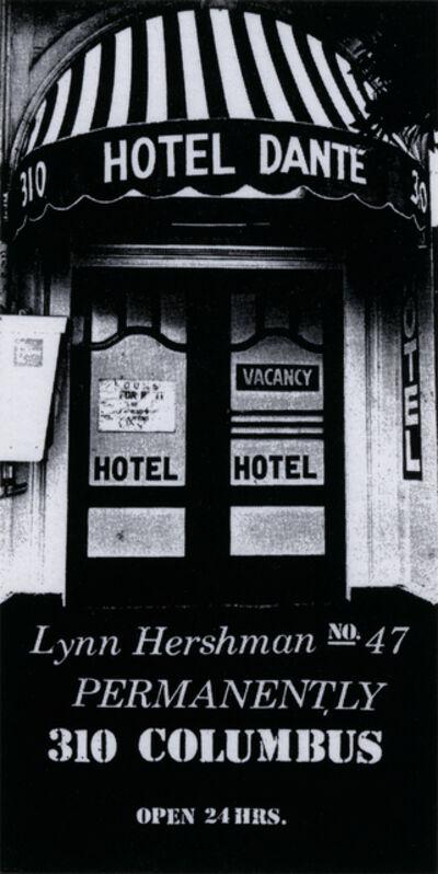 Lynn Hershman Leeson, 'Dante Hotel', 1973; printed 2015