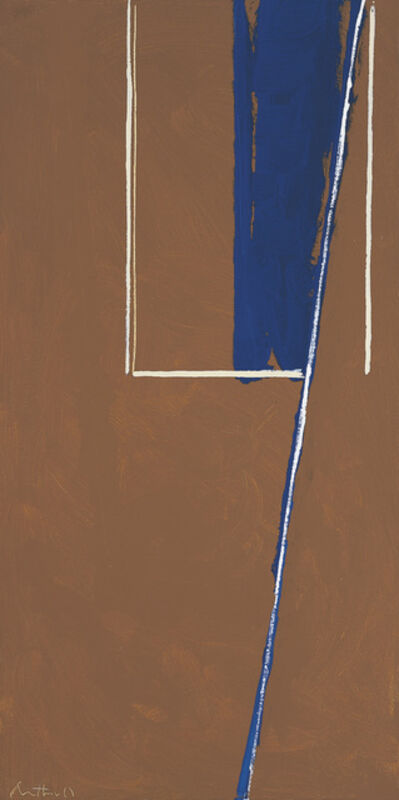Robert Motherwell, 'In Blue and White on Umber', 1970