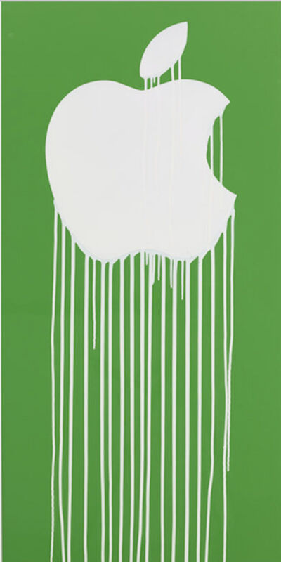 Zevs, 'Liquidated Apple - Green and White', 2013