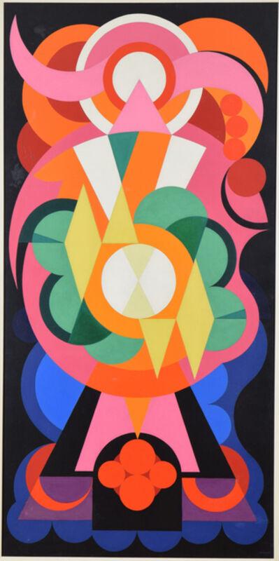 Auguste Herbin, 'Composition sur les Noms Communs: Ange, Lion, Fauvette', 1942