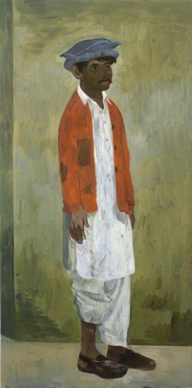 Salman Toor, 'Unknown Man in Afghan Hat', 2018