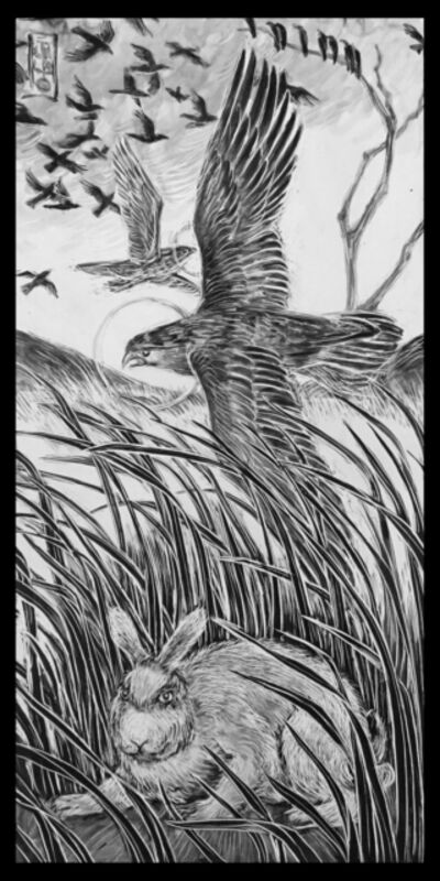 Ellen LeBow, 'The Hawk & Crow, Storm Coming', 2019