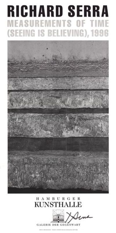 Richard Serra, 'Measurements of Time - Seeing is Believing', 1996