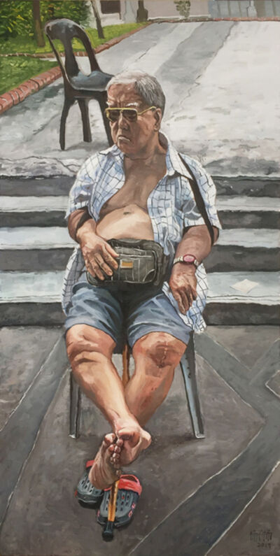 Yeo Tze Yang, 'Old Man Sitting', 2019