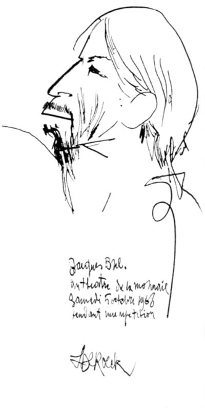 Lucien De Roeck, 'Jacques Brel', 1968