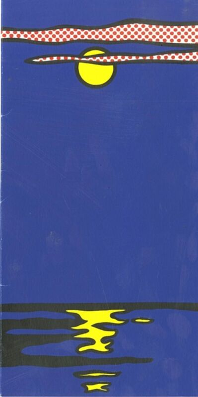 Roy Lichtenstein, 'Moonscape Silkscreen from Banner ', 1969