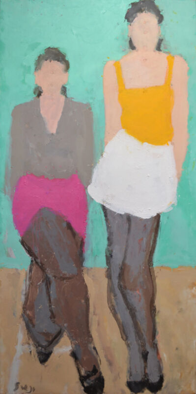 Sargy Mann, 'Two figures', 2014