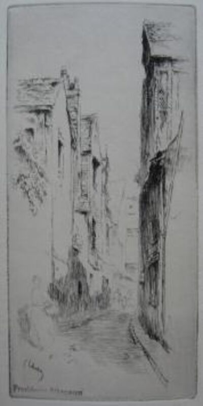 Gustave Leheutre, 'Rue du Petit Gars, à Tours', 1909