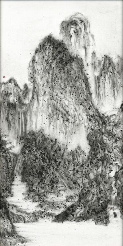 Yuan Hui-Li, 'Fiery Ink, A Solitary Temple Amid Clearing Peaks by Li Cheng', 2017