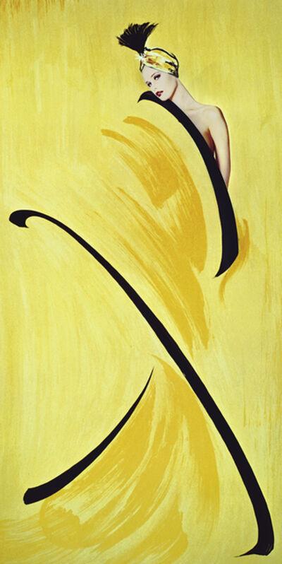 Gunter Sachs, 'Hommage à Gruau, jaune', 1991