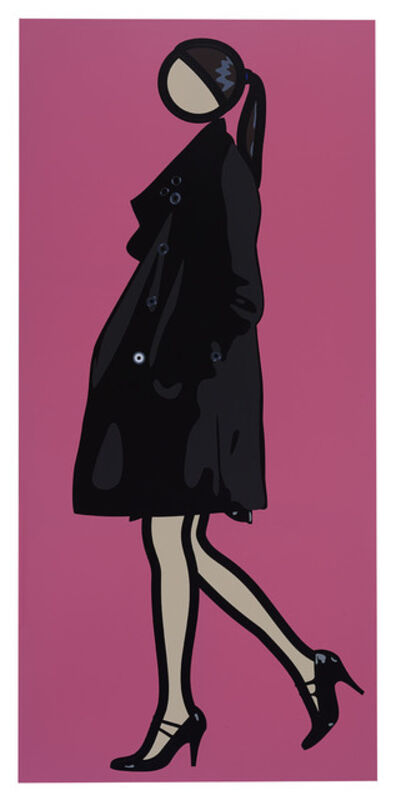 Julian Opie, 'Verity Walking in Overcoat', 2010