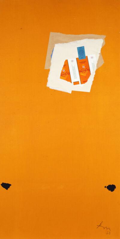 Robert Motherwell, 'Untitled (Ernte on Orange)', 1973