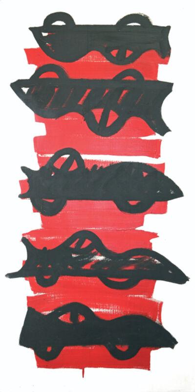 R.V. (Robin Vanarsdol), 'Two and Three Corvettes', 1980
