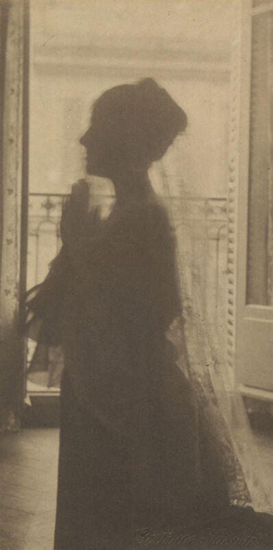 Gertrude Käsebier, 'Silhouette of a Woman / A Maiden at Prayer', About 1899