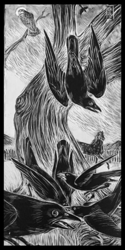 Ellen LeBow, 'Gathering of Crows', 2019
