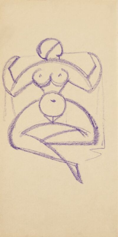 Gaston Lachaise, 'Geometric Nude with a Veil', ca. 1918