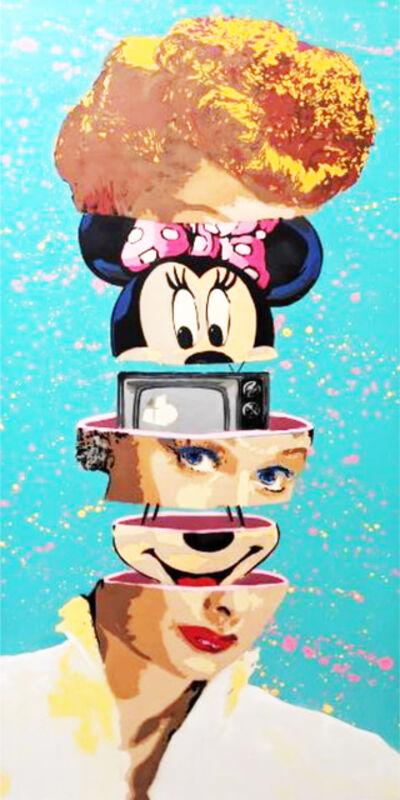 "Kar-Part, ' ""Who Loves Lucy"" aerosol on canvas ', 2020"