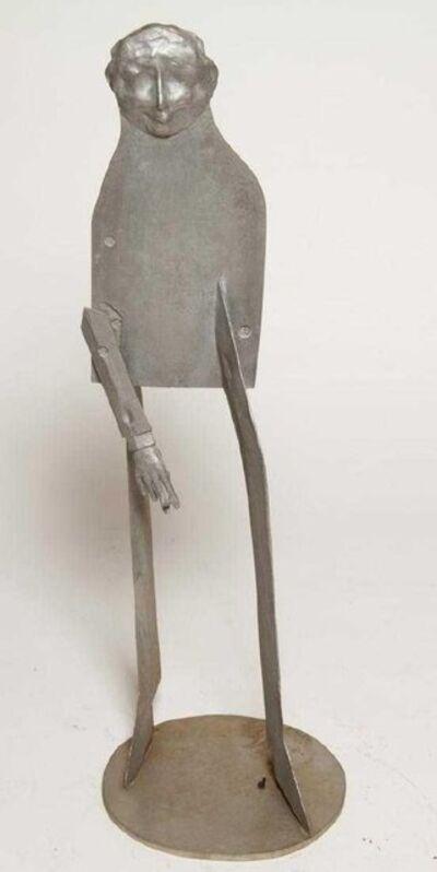 William King, '1960s Pop Art Unique Cast Aluminum Sculpture Cool Cat Bell Bottoms Americana', 1960-1969