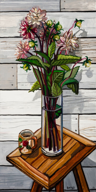 David Bates, 'Dahlias', 2016