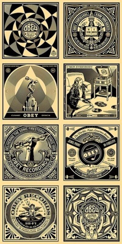 Shepard Fairey (OBEY), '50 Shades Of Black (Complete Set Of 8)', 2011