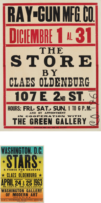 Claes Oldenburg, 'The Store; and Stars', 1961 and 1963