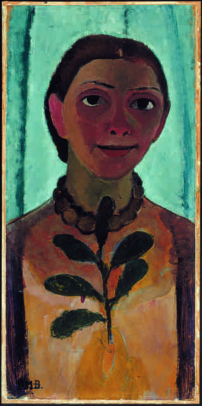Paula Modersohn-Becker, 'Selbstbildnis mit Kamelienzweig (Self-Portrait with a Camellia Branch)', 1906/07