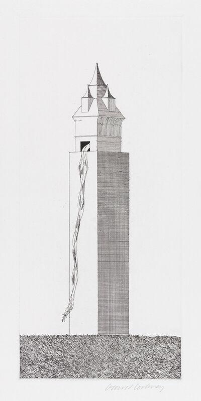 David Hockney, 'The Tower Had One Window ', 1969, Print, Etching, Gerrish Fine Art