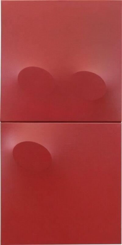 Turi Simeti, 'Dittico rosso', 2010