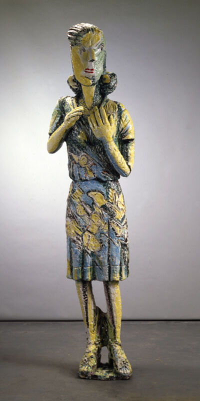 Viola Frey, 'Lady in Blue and Yellow Dress', 1983