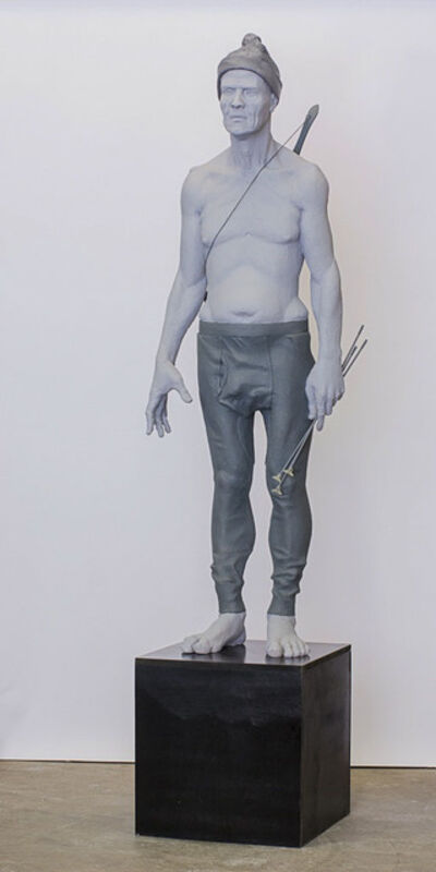 Nicholas Crombach, 'Man with Child's Bow and Arrows', 2013