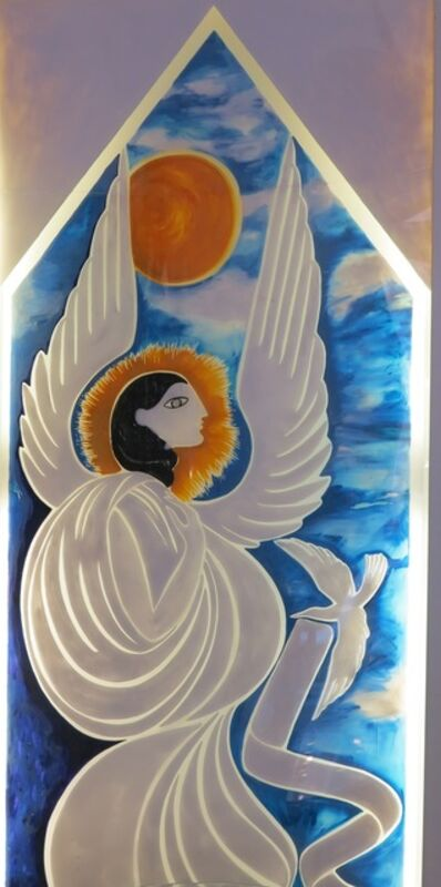 """Gio Ponti, 'Lightbox Panel """"Angel"""" for the store Shui-Hing in Singapore', 1978"""