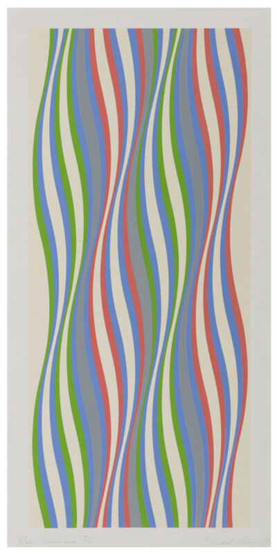 Bridget Riley, 'Blue Dominance', 1977