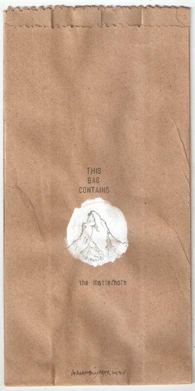 Rehaan Engineer, 'this bag contains the matterhorn', 2013