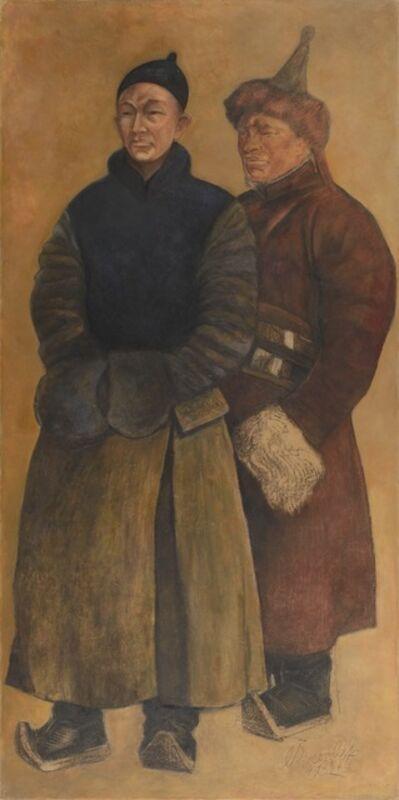 Alexandre Evgenievich Iacovleff, 'Portraits de deux Mongols', 1932