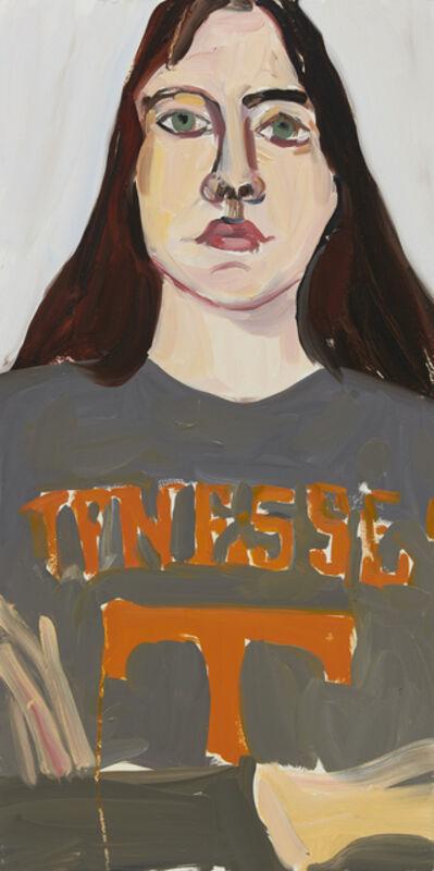Chantal Joffe, 'Esme in a Grey T-Shirt', 2020