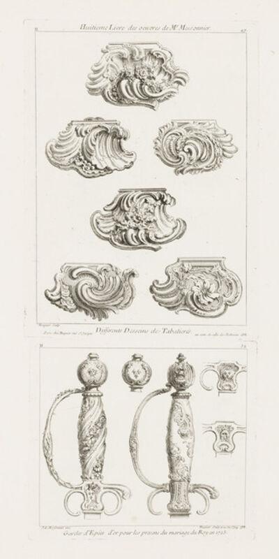 Juste-Aurèle Meissonnier, 'Gardes d'Epées d'or pour les presens du marriage du Roy en 1725 (Gilt Sword Handle in Honor of the King's Marriage in 1725)', 1748