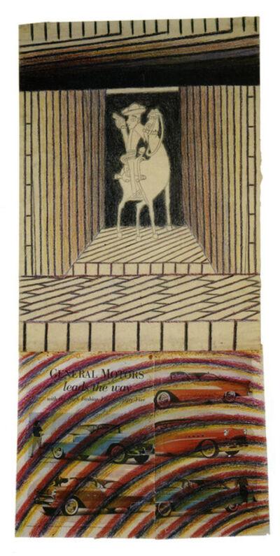 Martín Ramírez, 'untitled (horse and rider)', ca. 1950