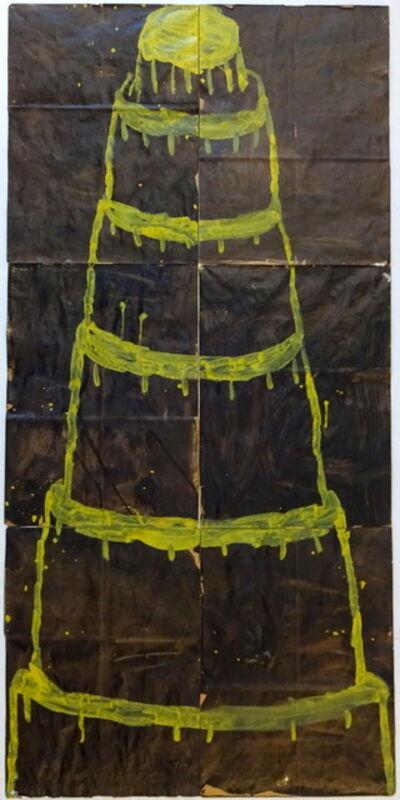 Gary Komarin, 'Stacked Cake Yellow on Black', 2016