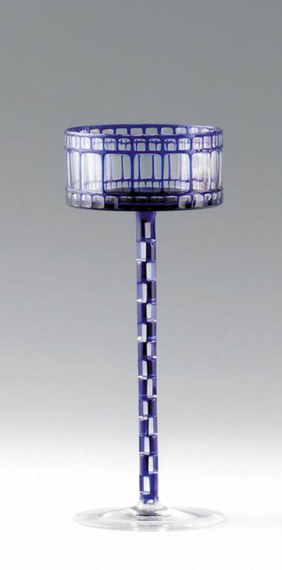 Otto Prutscher, 'Blue wineglass', 1907