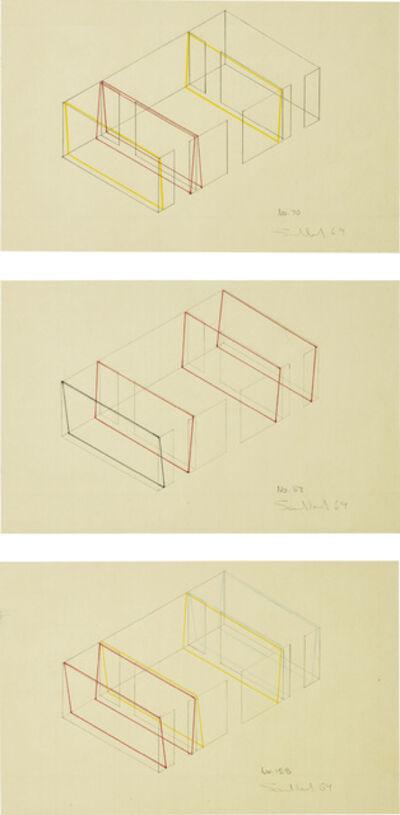 Fred Sandback, 'Three Works: (i) No. 70; (ii) No. 83; (iii) No. 128', 1969