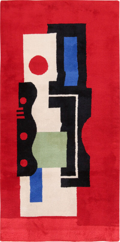 Fernand Léger, 'Fernand Leger No 9 Rouge Design Vintage French Rug', ca. 1970