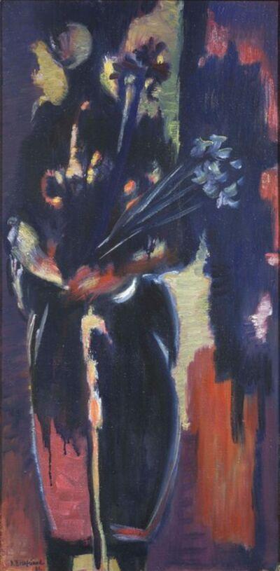 Jacob Bornfriend, 'Figure with Irises', 1961