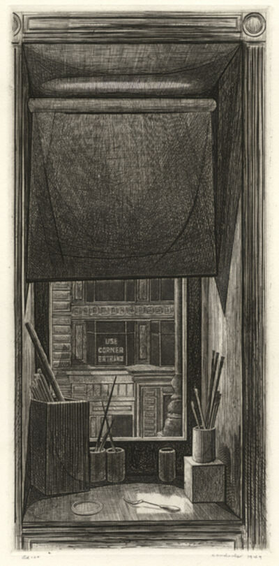 Armin Landeck, 'Window on 14th St.', 1949