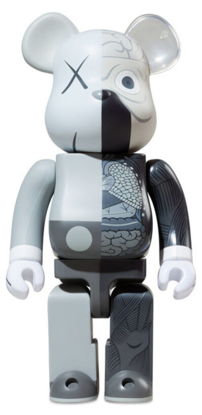 KAWS, '1000% Be@rbrick Dissected Companion: Grey', 2010