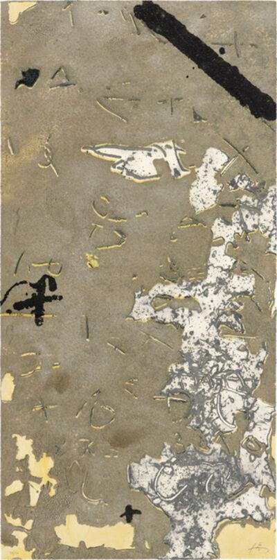 Antoni Tàpies, 'Graffiti sobre ciment', 1990