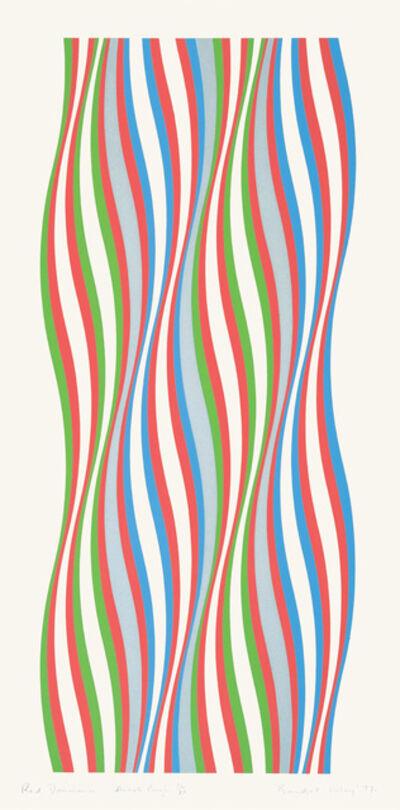 Bridget Riley, 'Red Dominance', 1977