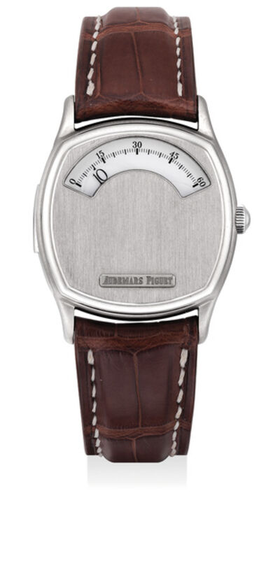 Audemars Piguet, 'A fine and very rare titanium limited edition minute repeating wandering hour wristwatch, numbered 2 of a limited edition of 3 pieces', 1996