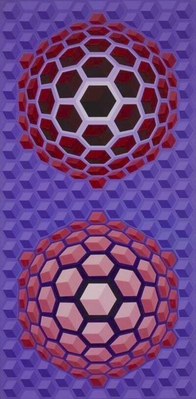 Victor Vasarely, 'Purple long', 1977